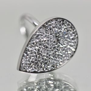 18k Gold Dipped White Topaz pave Statement Ring